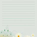 papier à lettre avec lignes