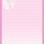 papier à lettre bebe imprimer