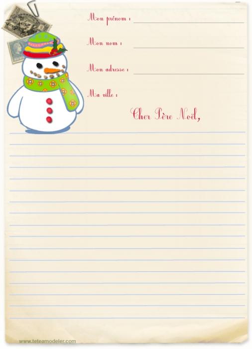 Exemple papier lettre de noel a imprimer gratuitement - Lettre de noel a imprimer ...