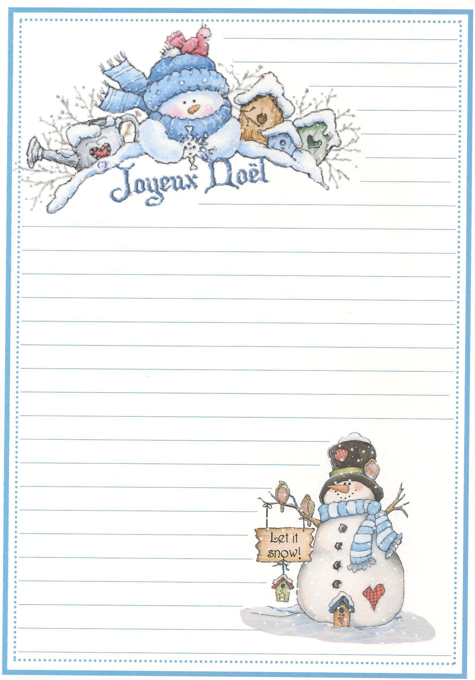 Mod le papier lettre joyeux noel - Lettre de noel a imprimer ...