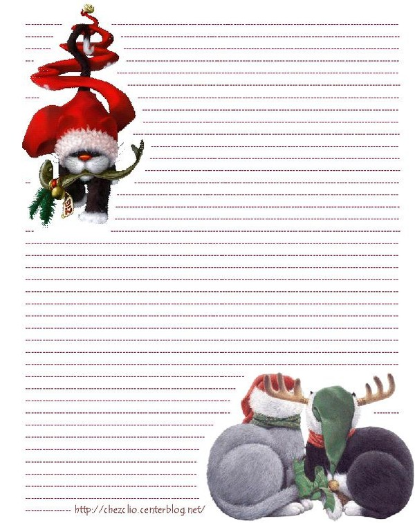Papier A Lettre Noel Format Word