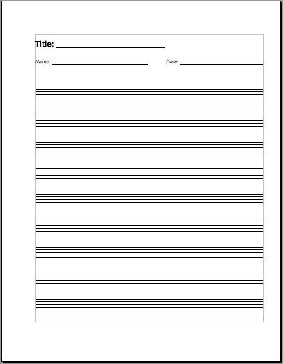 papier à lettre note de musique gratuit