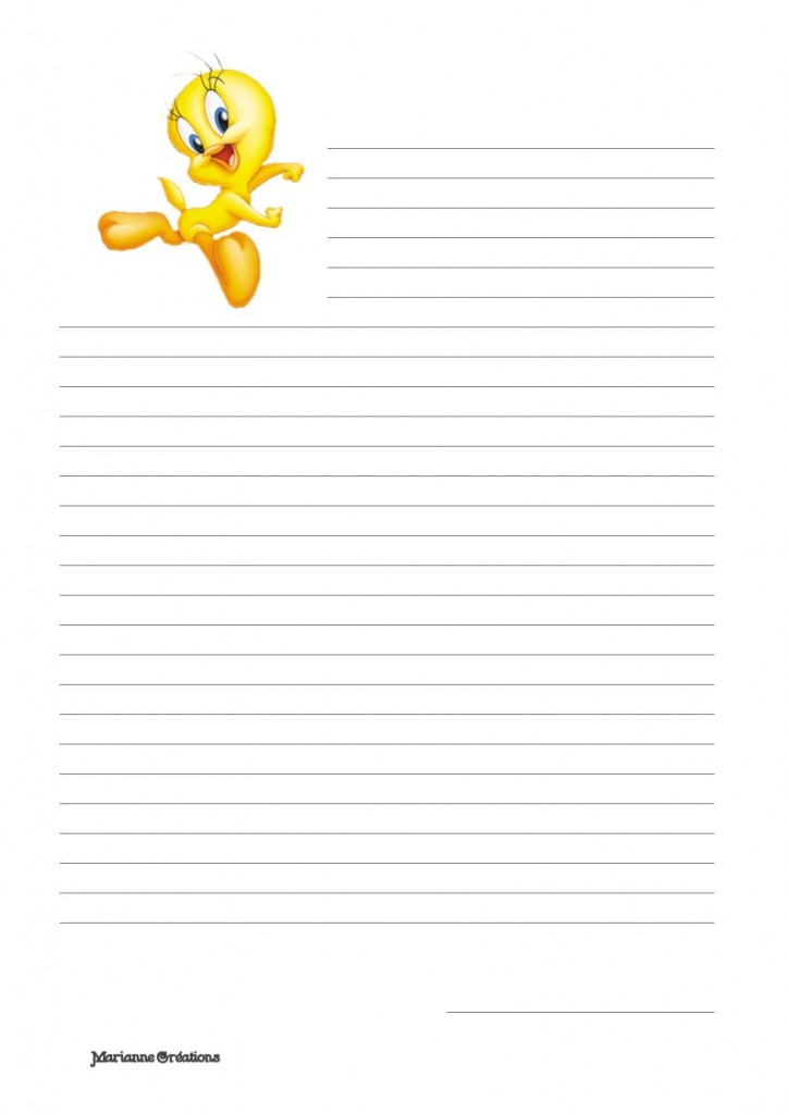 papier à lettre original