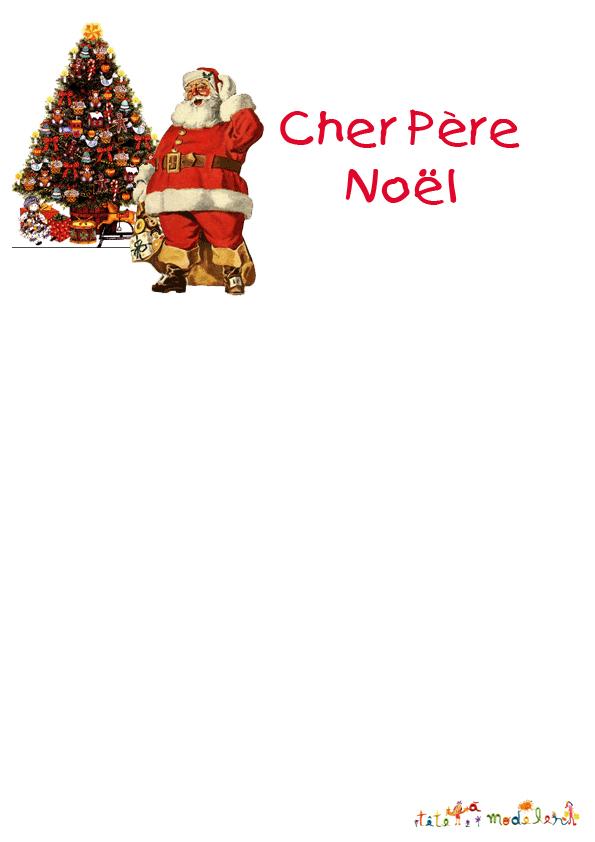 Exemple De Lettre Pour Le Pere Noel.Modele Papier A Lettre Pour Le Pere Noel