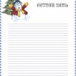 papier à lettre à imprimer gratuit noel