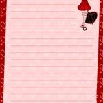 papier à lettre à imprimer pour fille