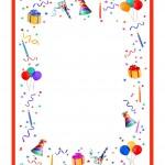 papier à lettre anniversaire gratuit