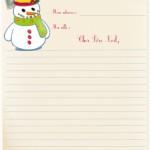 papier à lettre décoré noel