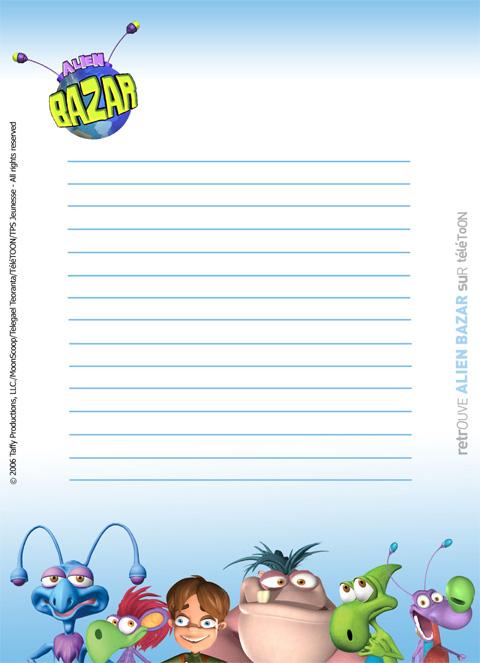 Joli papier lettre garcon - Teletoonplus gratuit ...
