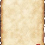 papier à lettre parchemin