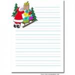 papier à lettre pour pere noel imprimer