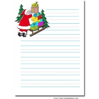 papier à lettre réponse du pere noel