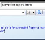 papier à lettre windows 7