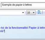 papier à lettre windows mail