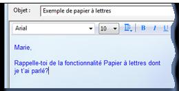 papier à lettre windows mail