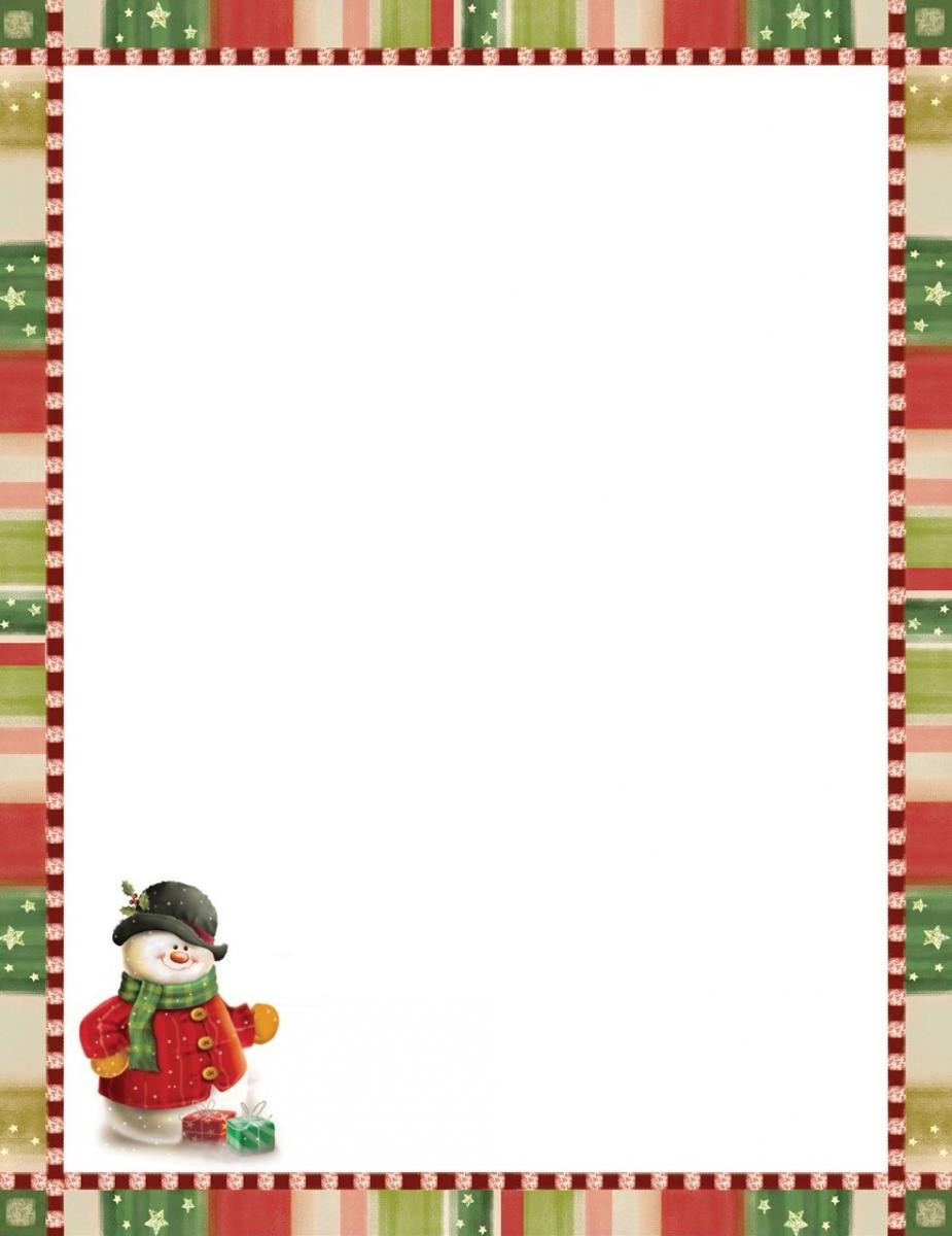 Papier à Lettre De Noel Gratuit Word
