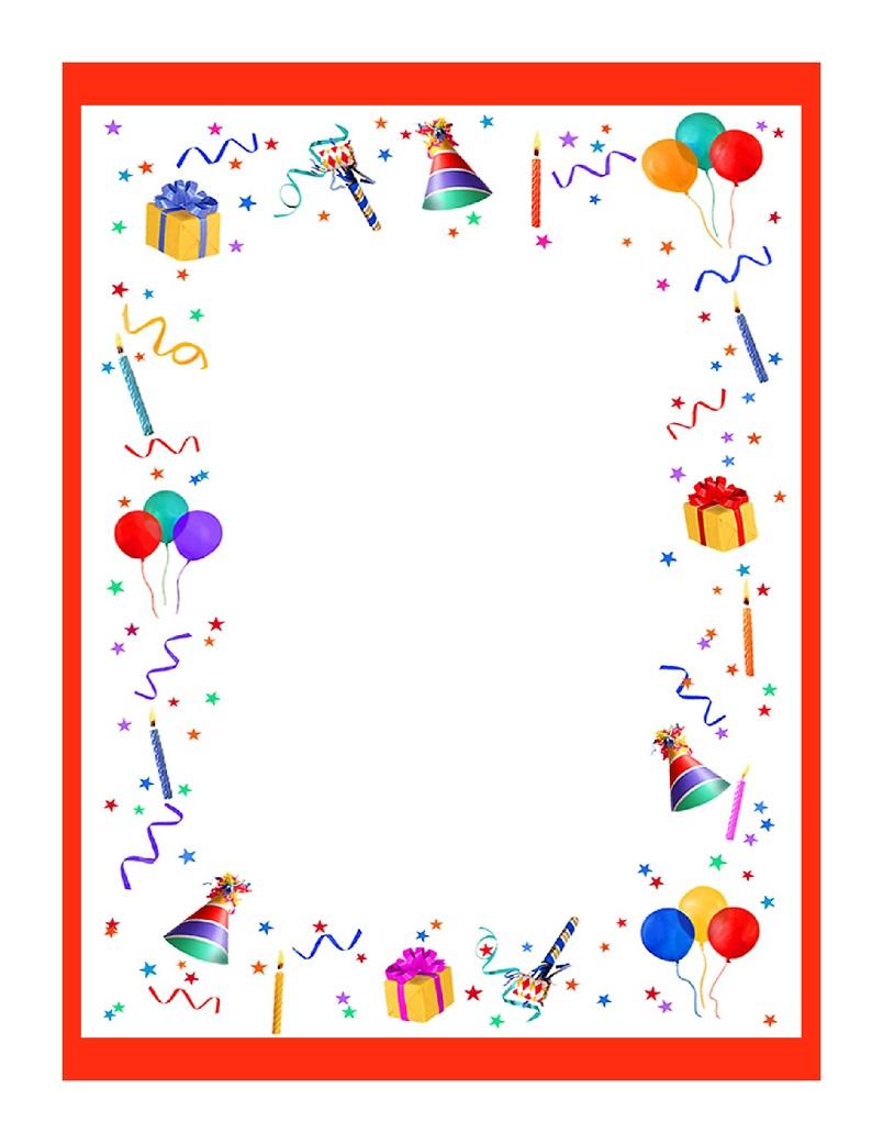 papier à lettre bon anniversaire